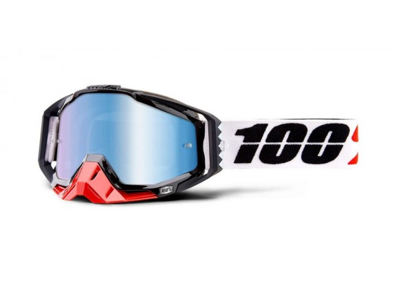 brýle RACECRAFT Marigot, 100% (modré zrcadlové plexi)