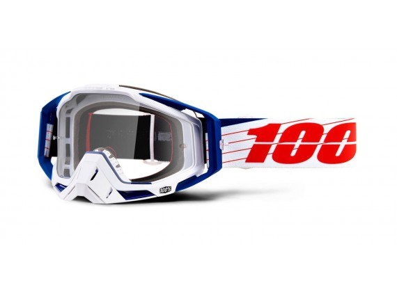 brýle RACECRAFT Bibal/White, 100% (čiré plexi)
