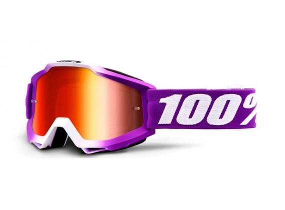brýle ACCURI Framboise, 100% (červené zrcadlové plexi)