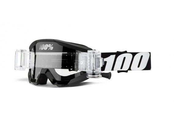 brýle STRATA Mud Outlaw, 100% (čiré plexi)