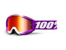 brýle ACCURI Framboise, 100% dětské (červené zrcadlové plexi)