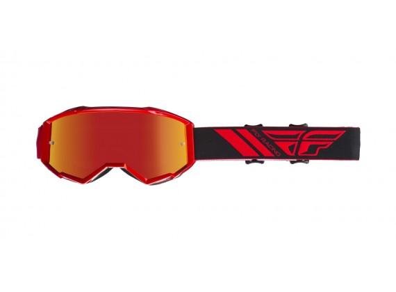 brýle ZONE 2019, FLY RACING (červené, červené chrom plexi)