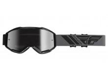 brýle ZONE 2019, FLY RACING (černé, stříbrné chrom plexi)