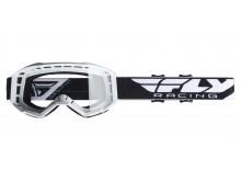 brýle FOCUS 2019, FLY RACING (bílé, čiré plexi bez pinů)