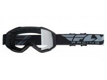 brýle FOCUS 2019, FLY RACING (černé, čiré plexi bez pinů)