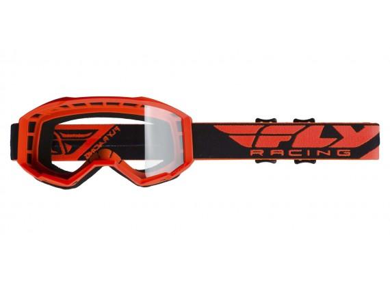 brýle FOCUS 2019, FLY RACING (oranžové, čiré plexi bez pinů)