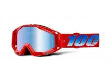 brýle RACECRAFT KURIAKIN, 100% (modré zrcadlové plexi)