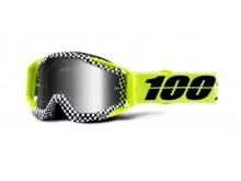 brýle RACECRAFT ANDRE, 100% (stříbrné zrcadlové plexi)