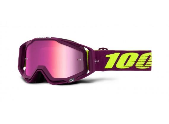 brýle RACECRAFT KLEPTO, 100% (stříbrné zrcadlové plexi)