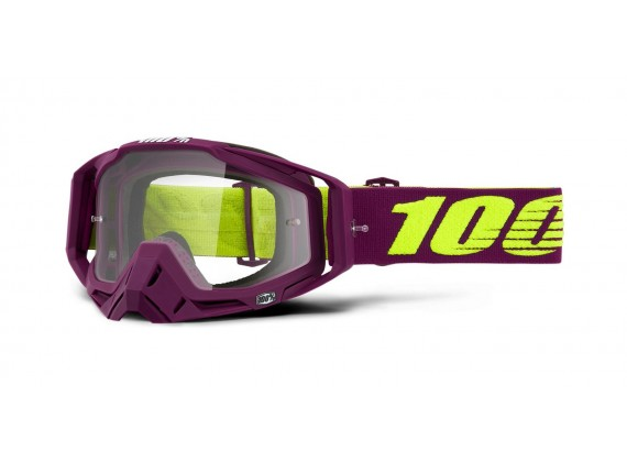 brýle RACECRAFT KLEPTO, 100% (čiré zrcadlové plexi)