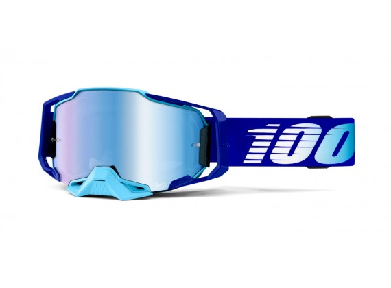 brýle ARMEGA Royal, 100% (modré chromované plexi s čepy pro slídy)