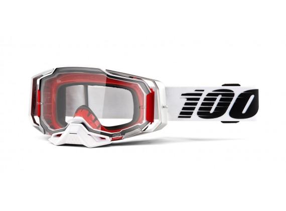 brýle ARMEGA Lightsaber, 100% (čiré plexi s čepy pro slídy)