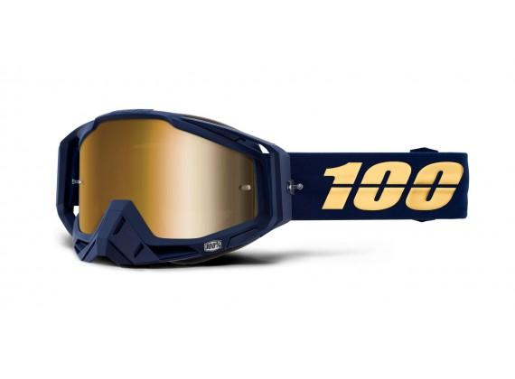 brýle RACECRAFT BAKKEN, 100% (zlaté zrcadlové plexi)