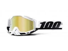 brýle RACECRAFT STUU, 100% (zlaté zrcadlové plexi)