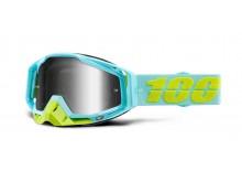 brýle RACECRAFT PINACLES, 100% (stříbrné zrcadlové plexi)