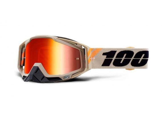 brýle RACECRAFT POLIET, 100% (červené zrcadlové plexi)