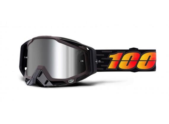 brýle RACECRAFT PLUS (+) COSTUME, 100% (Injected stříbrné zrcadlové plexi)