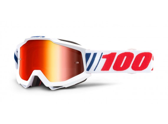 brýle ACCURI AF066, 100% (červené zrcadlové plexi)
