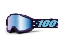 brýle ACCURI MANEUVER, 100% (modré zrcadlové plexi)