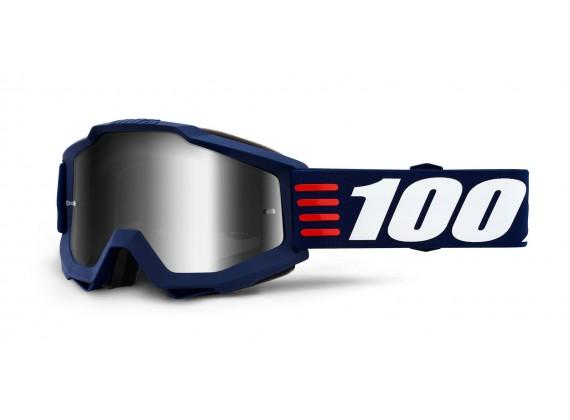 brýle ACCURI ART DECO, 100% (stříbrné zrcadlové plexi)