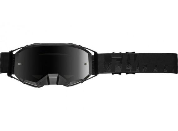brýle ZONE PRO 2020, FLY RACING (černé, kouřové plexi)