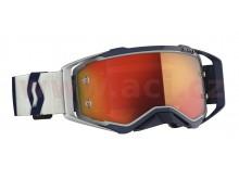 brýle PROSPECT, SCOTT (šedá/modrá, oranžové chrom plexi s čepy pro slídy)