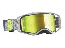 brýle PROSPECT, SCOTT (šedá/tmavě šedá, žluté chrom plexi s čepy pro slídy)