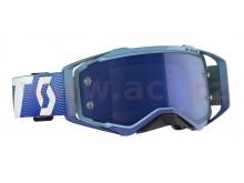 brýle PROSPECT, SCOTT (modrá/bílá, modré chrom plexi s čepy pro slídy)