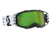 brýle PROSPECT, SCOTT (černá/bílá, zelené chrom plexi s čepy pro slídy)