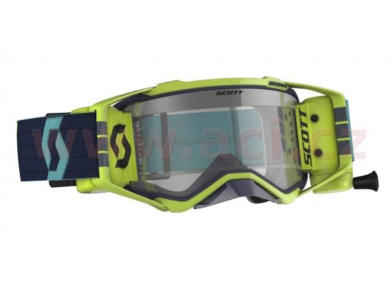 brýle PROSPECT WFS, SCOTT (modrá/žlutá, čiré plexi s Roll-Off)