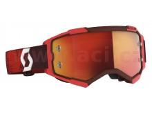 brýle FURY, SCOTT (červené, oranžové chrom, plexi s čepy pro slidy)