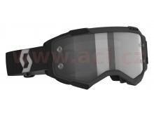 brýle FURY, SCOTT (černá/šedá, light sensitive plexi s čepy pro slídy)