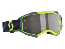 brýle FURY, SCOTT (neon žlutá/modrá, light sensitive plexi s čepy pro slídy)