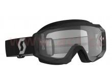 brýle HUSTLE X MX, SCOTT (černá/šedá, čiré plexi s čepy pro slidy)