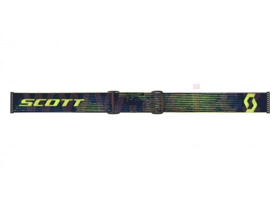 brýle HUSTLE X MX, SCOTT (žlutá/modrá, čiré plexi s čepy pro slidy)
