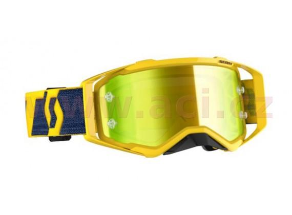 brýle PROSPECT, SCOTT (žlutá, žluté chrom plexi s čepy pro slídy)