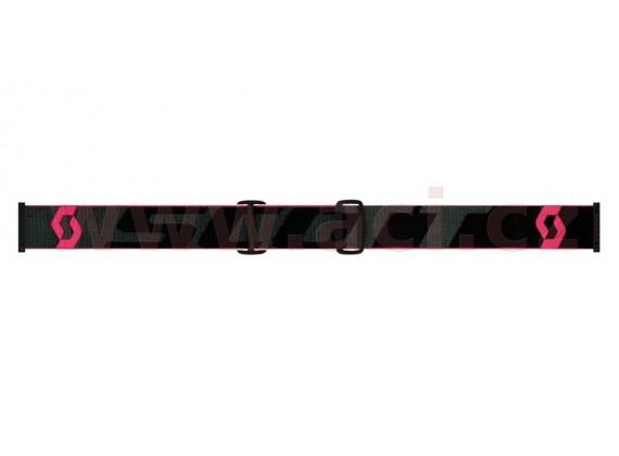 brýle HUSTLE MX, SCOTT (černá/fluo růžová, fialové chrom plexi s čepy pro slídy)