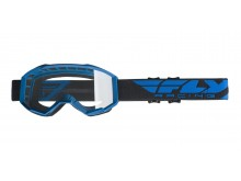 brýle FOCUS, FLY RACING - USA (modrá, čiré plexi bez pinů)