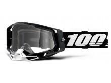 RACECRAFT 2 100% - USA , brýle černé - čiré plexi