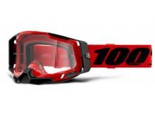 RACECRAFT 2 100% - USA , brýle červené - čiré plexi