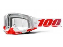 RACECRAFT 2 100% - USA , brýle St-Kith - čiré plexi