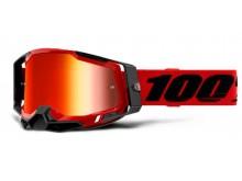 RACECRAFT 2 100% - USA , brýle červené - zrcadlové červené plexi