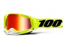RACECRAFT 2 100% - USA , brýle žluté - zrcadlové červené plexi