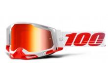 RACECRAFT 2 100% - USA , brýle St-Kith - zrcadlové červené plexi