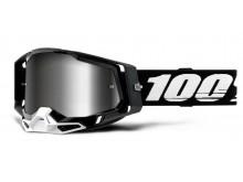 RACECRAFT 2 100% - USA , brýle černé - zrcadlové stříbrné plexi