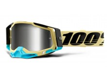 RACECRAFT 2 100% - USA , brýle Airblast - zrcadlové stříbrné plexi