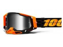 RACECRAFT 2 100% - USA , brýle Costume 2 - zrcadlové stříbrné plexi