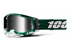RACECRAFT 2 100% - USA , brýle Milori - zrcadlové stříbrné plexi