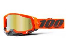 RACECRAFT 2 100% - USA , brýle Kerv - zrcadlové zlaté plexi