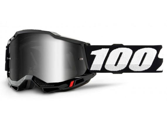 ACCURI 2 100% - USA , brýle černé - zrcadlové stříbrné plexi